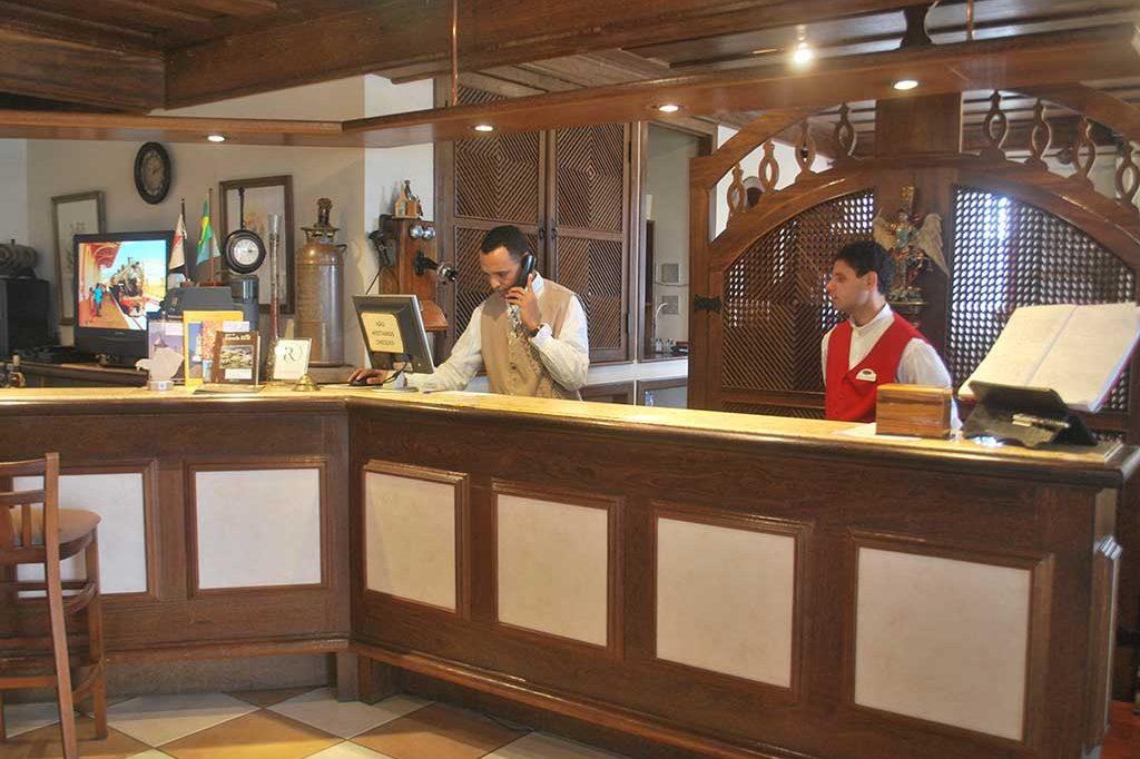Recepção do hotel Pousada do Arcanjo em Ouro Preto